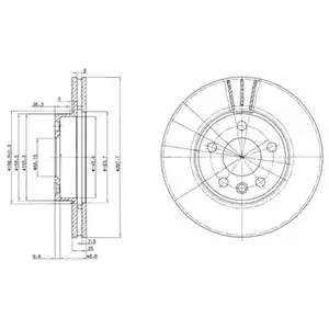 BG3025 DELPHI Тормозной диск