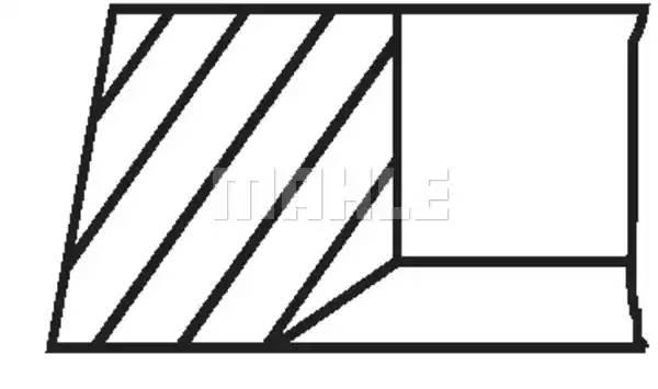Кольца поршневые Opel Z10XEP/Z12XEP/Z14XEP d73.4+0.50 1.2-1.2-NM на 1 цил. Mahle