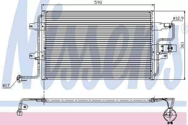 Радиатор кондиционера AUDI A3 (8L1) [2000 - ] NISSENS 94310