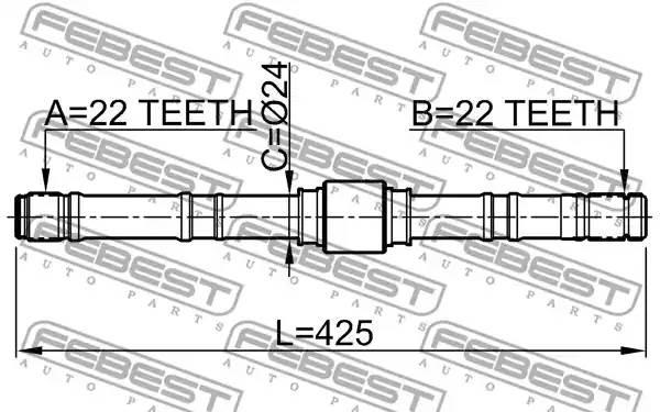 Вал привода лев P11 1,6 FEBEST