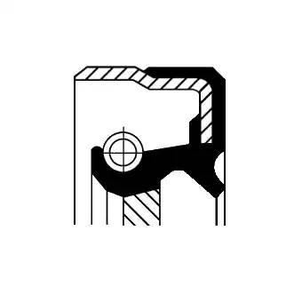 Сальник переднего хвостовика КПП 39,4x65x11,8/23,5