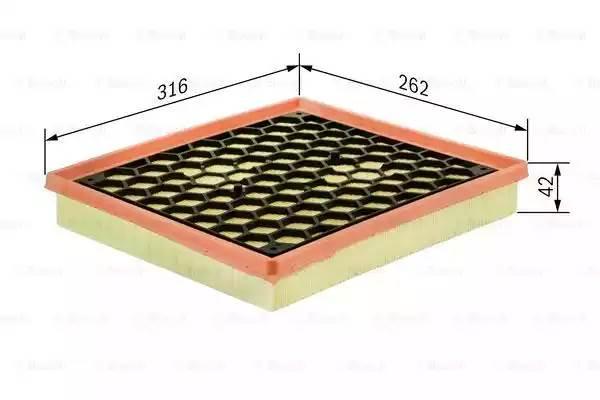 Фильтр воздушный, BOSCH, F026400014