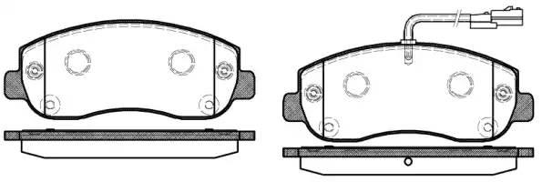 Колодки тормозные передние Renault master(Remsa) 144901