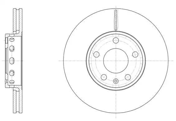 6328.10 диск тормозной передний 5 отв. Audi A6, VW Passat all 90 632810