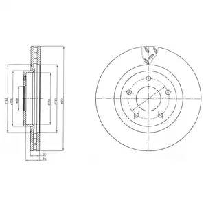 диск тормозной передний d=294 MITSUBISHI ASX 10-, Outlander12-, CITROEN C4 Aircross 12-, PEUGEOT 4008