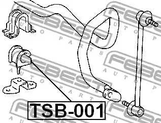 4881548040/ TSB001 Втулка стабилизатора Febest