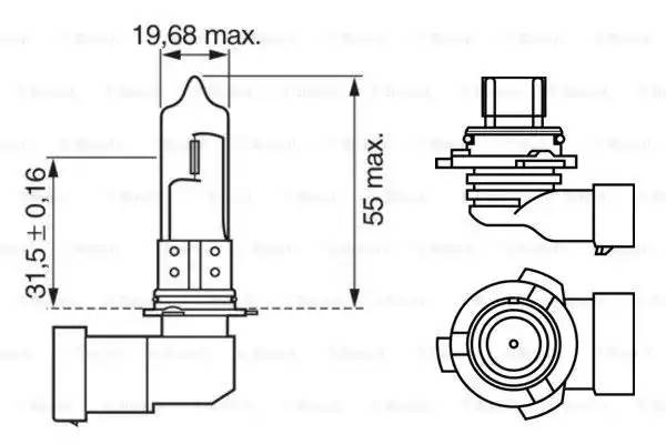 Лампа галоген' Xenon Blue HB4' 12В 51Вт