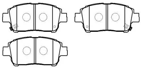 колодки тормозные передние (116.5*51.6) TOYOTA YARIS (P10) 1.0-1.3 98-05