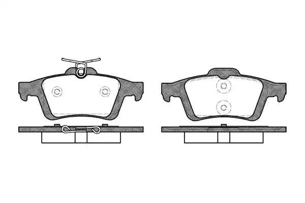 колодки задние дисковые пружина с верху