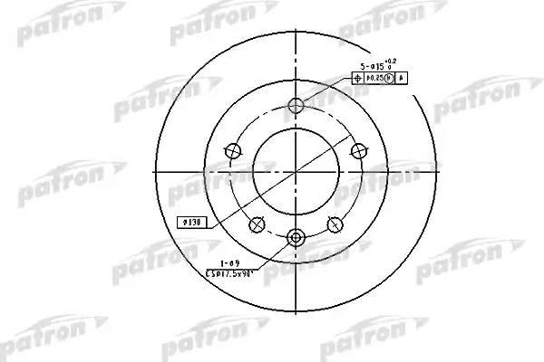 Диск тормозной передн MERCEDES-BENZ: SPRINTER 2-t c бортовой платформой 95-06, SPRINTER 2-t автобус 95-06, SPRINTER 2-t фургон 95-06, SPRINTER 3-t c бортовой пл