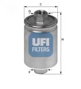 Фильтр топливный ВАЗ 2108-15 инж. дв. 1,5 (31.741.00) UFI Италия (6)