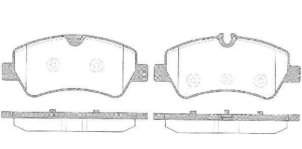 Колодки тормозные задние Ford transit 140-155л/с