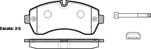 Колодки тормозные передние 906 515CDI