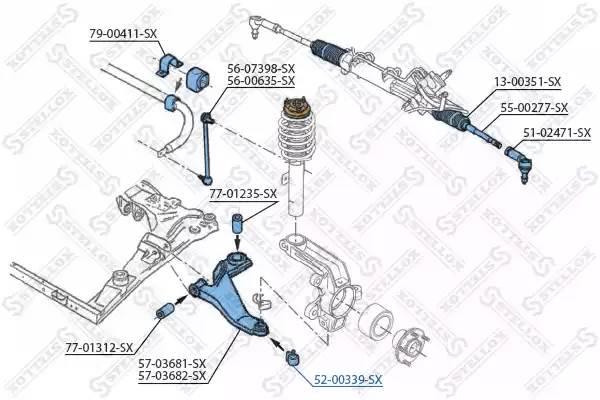 52-00339-SX опора шаровая комплект Ford Mondeo all 00>, Jagua X-Type 2.0/2.5/3.0/2