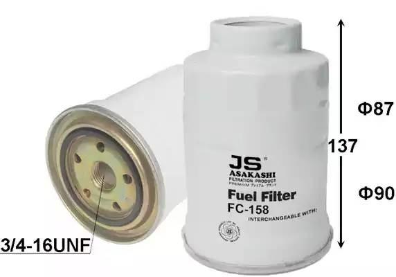 FC158J фильтр топливный Toyota Carina/Corolla/Land Cruiser 1.8-4.2D 85