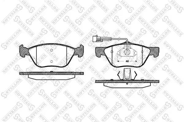 600 002B-SX 589 02 колодки дисковые п. Alfa Romeo 156, Fiat Bravo/Marea 2.0i