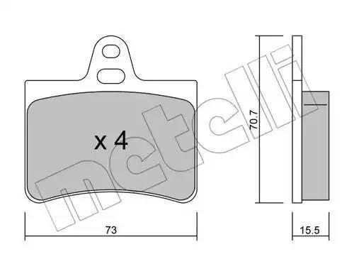 2203330 METELLI Комплект тормозных колодок, дисковый тормоз