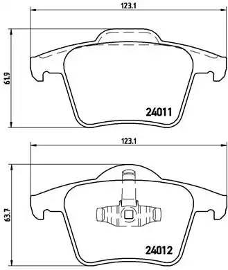 P86019 1044 00 колодки дисковые з. Volvo XC90 2.5iT/3.0i T6/2.4 D5 02