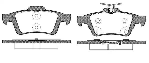 842 70 [CV6Z2200A] колодки дисковые з. Ford Focus III 1.6/1.6 EcoBoost/1.6TDCi