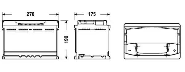 Батарея аккумуляторная, 12В 77А/ч
