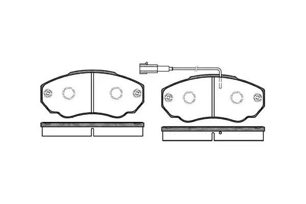 колодки передние Q11/15  R15 с датчиком