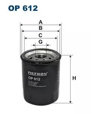 Фильтр масляный, FILTRON, OP612
