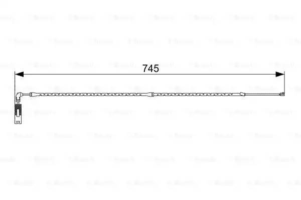 1 987 473 000 QBWS0244 23951F [34353411756] датчик износа колодок перед. BMW