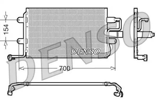 Радиатор кондиционера AUDI A3 (8L1) [2000 - ] DENSO DCN32017
