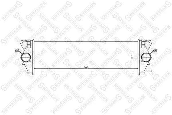 10-40206-SX интеркулер MB Sprinter 2.2CDi 06
