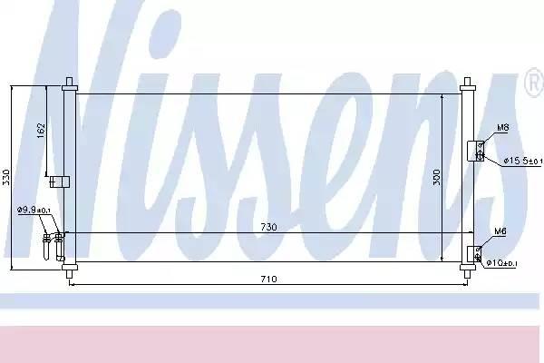 Радиатор кондиционера NISSAN ALMERA Mk II (N16) [2000 - ] NISSENS 94616