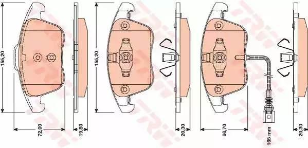 Колодки тормозные передние дисковые GDB1762