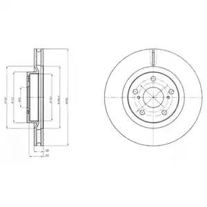 Диск тормозной передний (296х28) 5 отв TO Camry 2.4, ACV40, 2AZ-FE, 05-: 3.5, ACV40, 2GR-FE, 05-::::