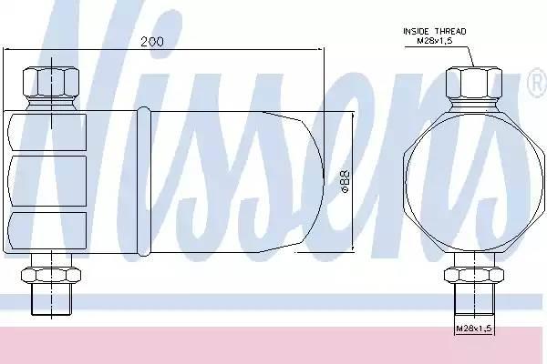 Осушитель кондиционера AUDI A4 (8D2, B5) [2000 - 2000] NISSENS 95324