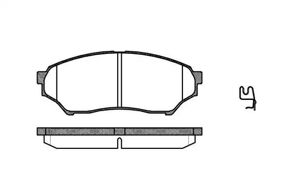 колодки тормозные дисковые передние (123.2*48.2)  Mitsubishi Pajero Pinin 99-