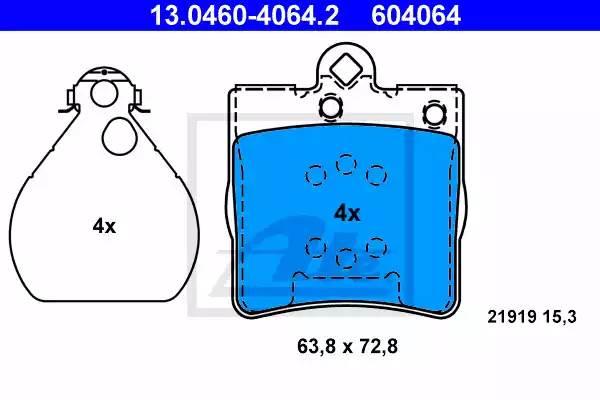 Колодки дисковые, ATE, 13046040642