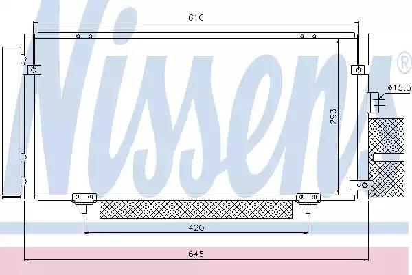 Радиатор кондиционера SUBARU LEGACY IV [2003 - ] NISSENS 94885