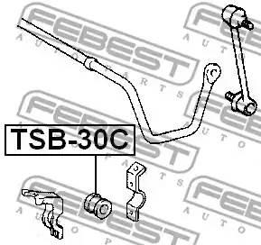 4881821030/ TSB30C Втулка стабилизатора Febest