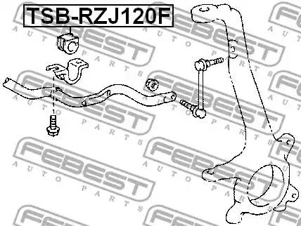4881560350/ TSBRZJ120F Втулка стабилизатора Febest
