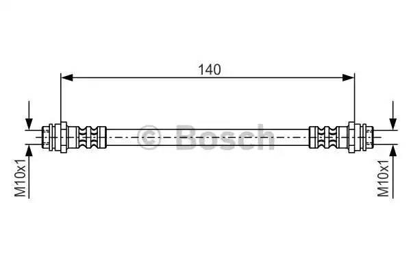 Тормозной шланг AUDI A1 (8X1) [2011 - ] BOSCH 1 987 476 952