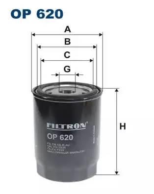 OP 620 фильтр масляный Peugeot Boxer, Citroen Jumper 2.5TD/TDi 94