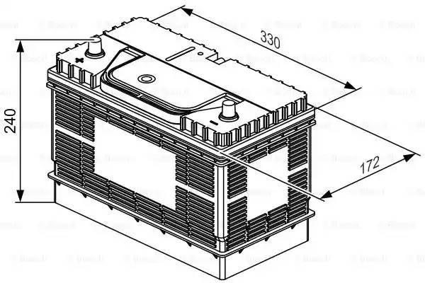 Батарея аккумуляторная, 12В 105А/ч