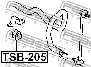 4881542050/ TSB205 Втулка стабилизатора Febest