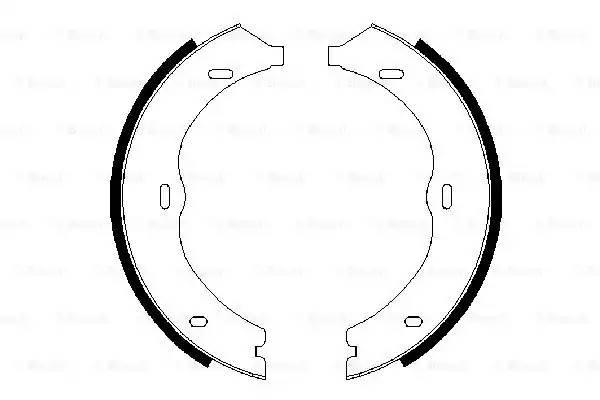 колодки тормозные стояночного тормоза