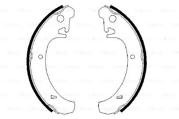 0 986 487 219 колодки барабанные Lada Samara 1.1-1.5 85>/110-112/Kalina/Prior