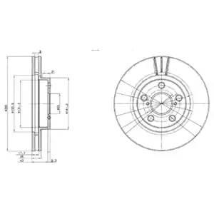 Диск тормозной передний (260х25) 5 отв TO Avensis 1.6i ZZT220, 3ZZ-FE, 00-03: 1.6i AT220, 4A-FE 97-00: 1.8i ZZT221, 1ZZ-FE, 00-03: 1.8i AT221, 7A-FE, 97-00: 2.0i AZT220, 1AZ-FSE, 00-03: 2.0i ST220, 3SE-FE, 97-00: 2.0D-4D CDT220, 1CDFTV, 99-03: 2.0TD, CT220, 2C-TE, 97-00::::
