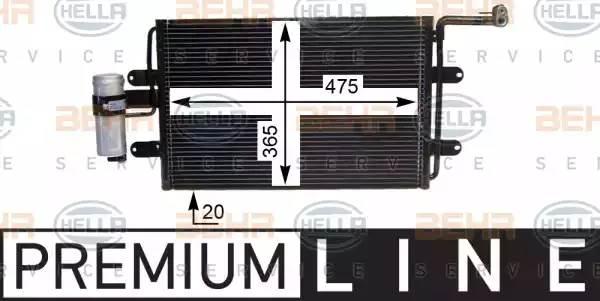 Радиатор кондиционера AUDI A3 (8L1) [2000 - ] BEHR HELLA SERVICE 8FC 351 036-381