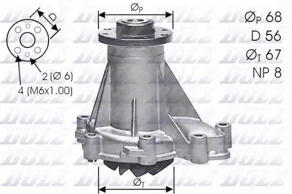 Помпа водяная 601-602