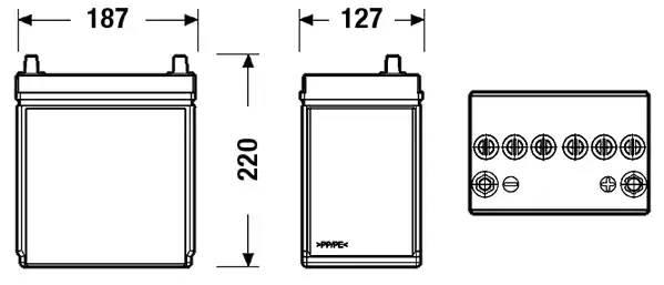 Батарея аккумуляторная, 12В 35А/ч