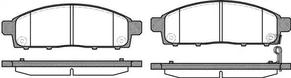колодки тормозные передние 155.4*51 MISUBISHI L200 05-, PAJERO SPORT 08-