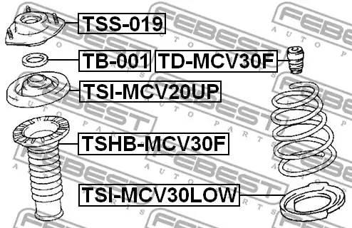 4815733061/ TSHBMCV30F Пыльник стойки Febest
